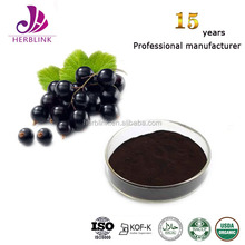 Black currant extract with polyphenol phytochemicals
