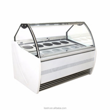 Hard Ice Cream Showcase/Italian Gelato Glass Display Case/Fruit Ice Cream Display Cabinets For Sale