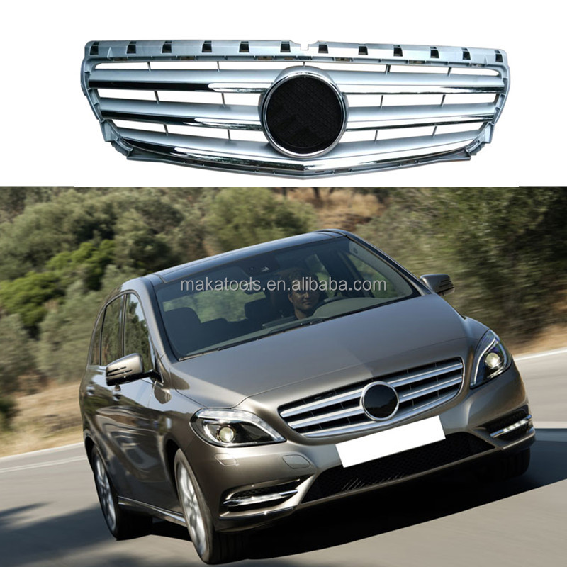 Free Shipping For Benz B Class W246 2013 Front Car Grille Cover Trim Silver