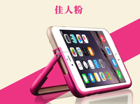 new arrival high quality stand frame aluminum metal bumper pink case for Iphone 6