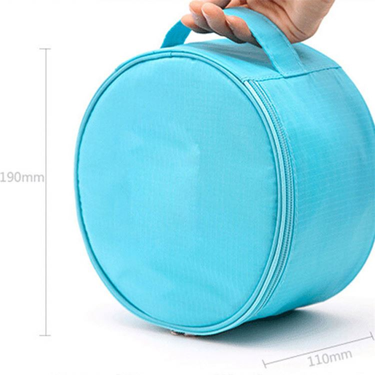 Manufacturer Sale Makeup Pouch Cosmetic Bag Travel Round Shape Cute Ladies Toilet Bag