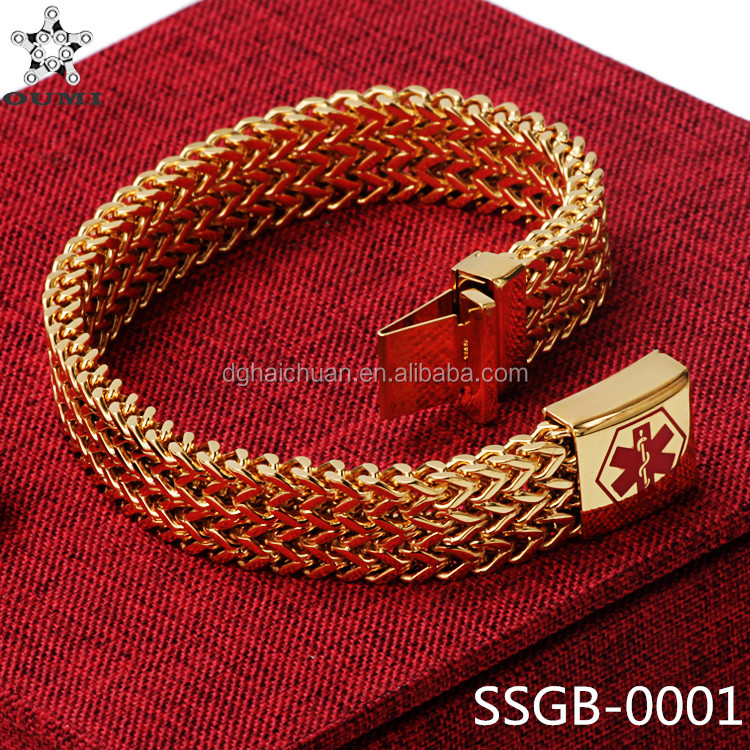 Factory gold bracelet jewelry design for girls stainless steel saudi gold jewelry bracelet