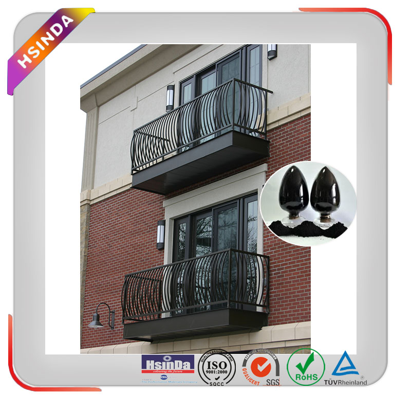High heat resistant powder coating black spray paint manufacturer for architecture