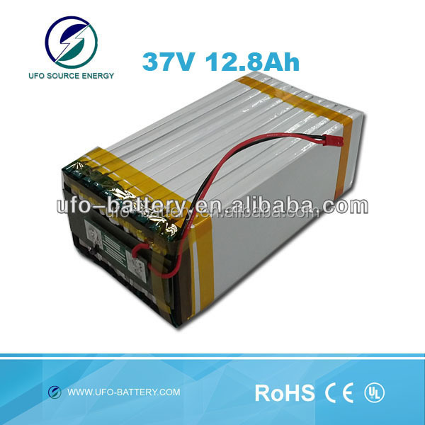 battery powered industrial vacuum cleaner 37v 12.8Ah high power rechargeale flat lihtium ion polymer battery pack