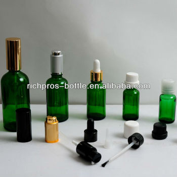 essential oil glass bottle with droppers