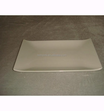 23.2*14.1*2.3cm High Quality Japanese Korean Style Long Rectangle White-color Melamine Sushi Serving Plate(LG3027)