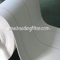 polyester short fiber airslide fabric conveyor belt in cement industry
