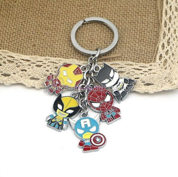 Super Hero The Avengers Captain America Metal Keychain Pendant Key Chains