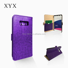 2017 HK Expo Booth No11K20 Card Holder Cover Case for samsung galaxy S8 Leather Phone Case Ultra Thin Wallet Flip Cover