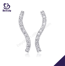 Shiny cz alphabet silver accessories for making earrings