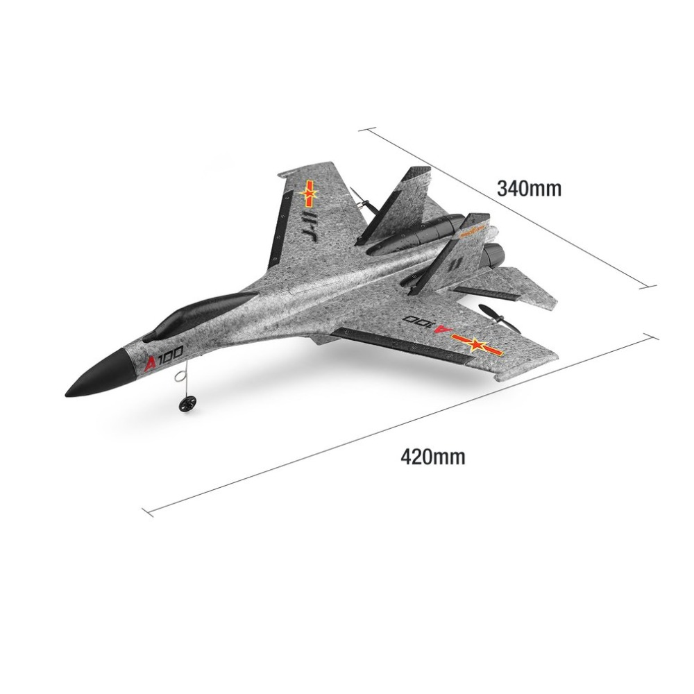 Only 65g EPP Wltoys A100-SU27 2.4G 3CH 6 Asixs Racing RC Airplane