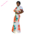 Gorgeous Floral African Wedding Dress Designs Mermaid Maxi Dress