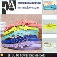 narrow painted flowers female chastity waist belt pictures with rebel silver studs