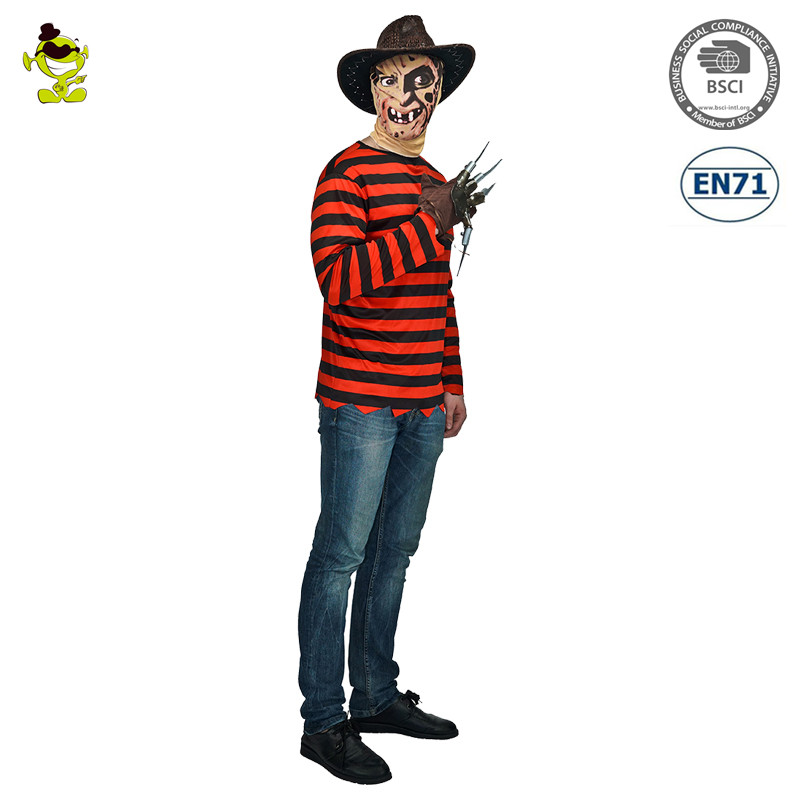 hot wholesale Nigthmare on Elm Street Adult Mens Scary Halloween Costumes Killer Freddy Krueger Costume