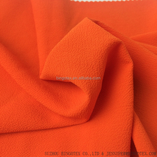 100% polyester crinkle chiffon fabric for fashion dress