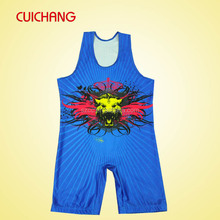 latest dress pattern 2014 new fashion cheap custom wrestling singlets for sale QS-008