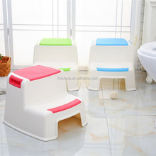 OEM anti-slip baby plastic sitting 2 step stool toilet potty foot stool chair