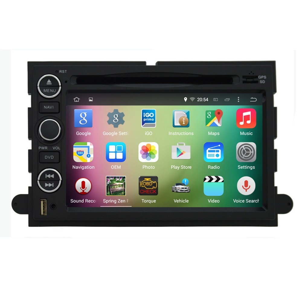"OEM A9 Quad core Pure Android 5.1.1 HD 1024*600 16GB Mirror-Link 7"" Car DVD Player GPS Stereo Radio For FORD Mustang 2005-2009"