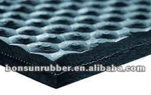 New!! hammer top /groove rubber stable mat with 1 ply