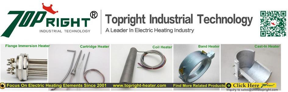 4kw 220v electrical thermostat tubular heater, industrial immersion tubular heating element