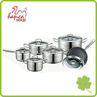 12pcs Stainless Steel Induction base Cookware Set