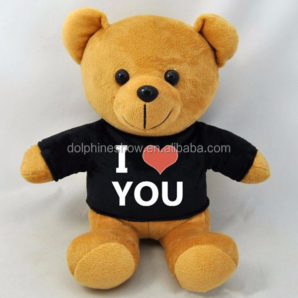 Wholesale custom cute teddy bear plush toy with LOGO Fashion OEM design stuffed soft toy plush sublimation teddy bear t shirt