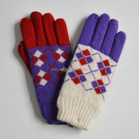 Cheapest knitted smartphone gloves ladies soft winter warm gloves