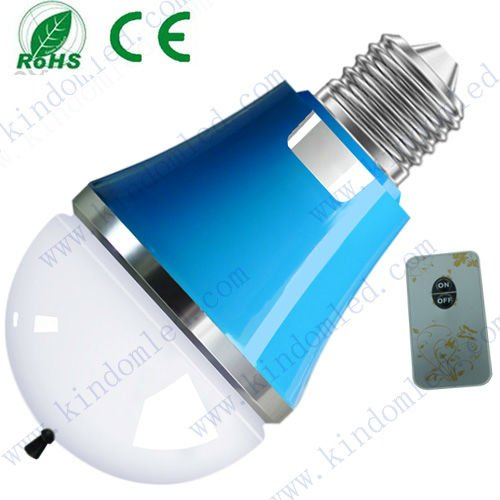 2013 New product Anion LED light bulb E27, 3W, Samsung chip air purifying with remote controller