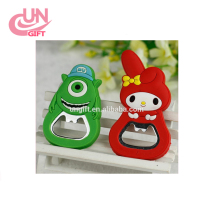 Cute Cartoon Silicone Multifunction Corkscrew Bottle Opener Fridge Cooking Tools Beer Openers