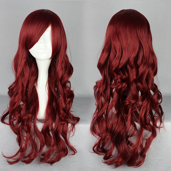 Beautiful Fashion Style Japanese Cartoon Figure lolita Heat Resistant Cosplay Rose Red Wig