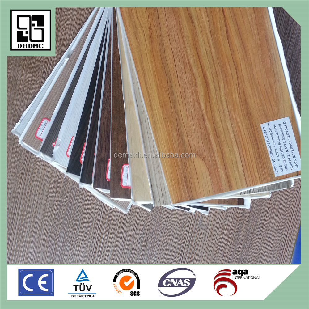 rubber Wearable grade A Perfect self-adhesive PVC floor vinyl plank