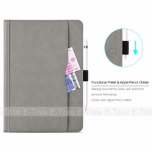 E-Tree brand original new arrival folio leather tablet cover for ipad pro 10.5 inch case with auto sleep&wake function