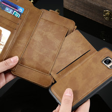 Leather wallet mobile phone case, For Samsung Galaxy S6 Case, Book Style Flip Leather Case Cover for Samsung Galaxy S6