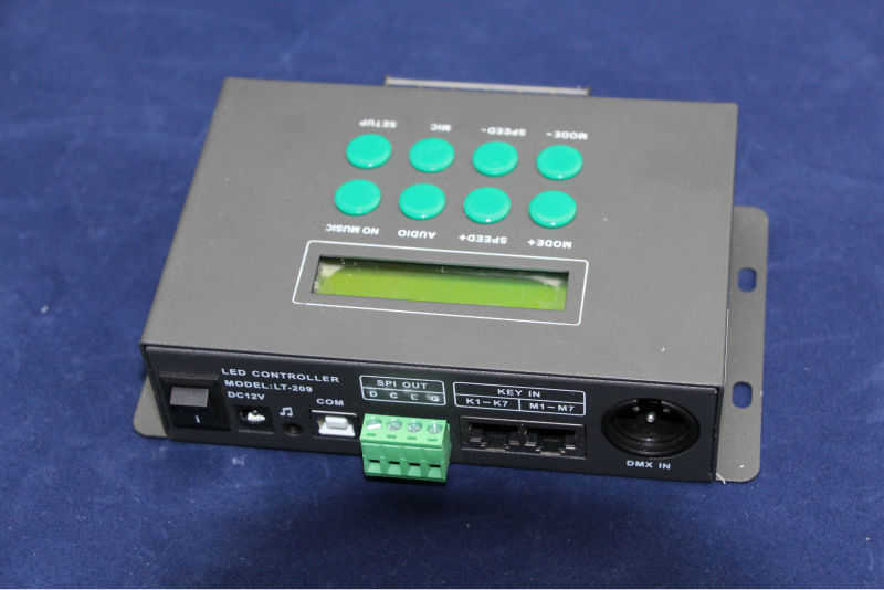 Adapter to covert AC100~240V To DC12V; DMX Music Led Controller ;support 1024 pixels;midi music wifi led controller