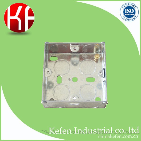 BS4662 conduit metal flush british standard electrical switch box