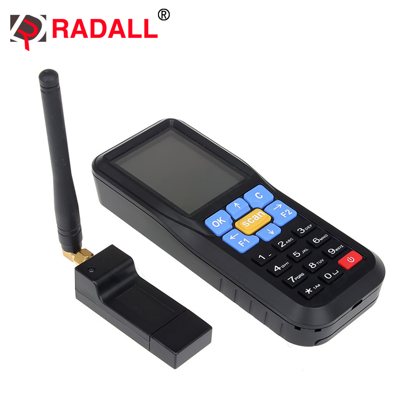 RD-C6 Wireless Mini Data Collector Handheld Barcode Scanner Reader Laser Bar Code POS Terminal upload data to excel <strong>w</strong>/keyboard