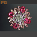 Best sale wholesale fashion colorful big stone brooch costume jewelry brooches