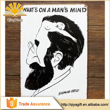 Funny What's On A Man's Mind Tin Sign Metal Plate Wall Art Decor