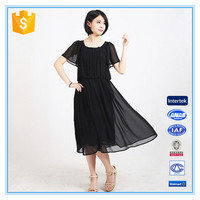 Chiffon Short Sleeve Fashion Dress Women Summer 2016