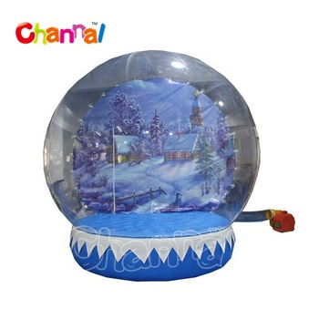 High quality inflatable human size snow globe inflatable snow globe for sale