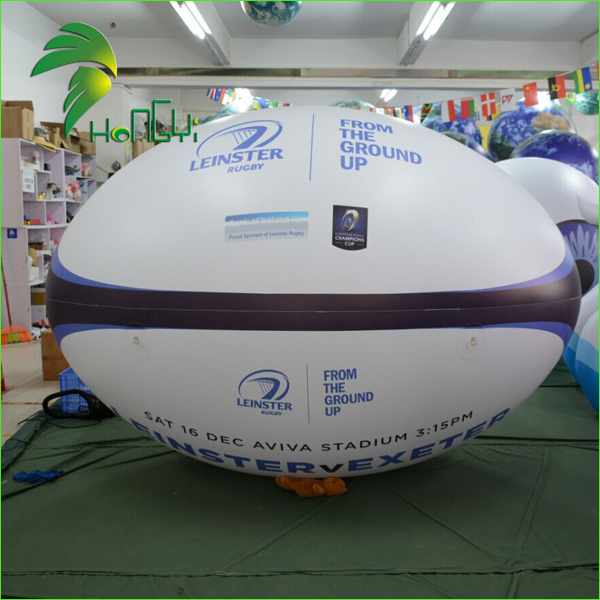 Sports Event Decoration Cheap Rugby Ball Inflatable / Advertising Inflatable Rugby Football Model
