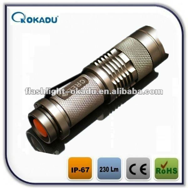 260lumen foucs 3 mode AA battery cree q5 led torch flashlight