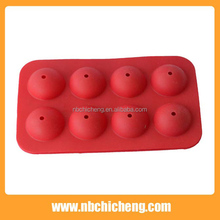 FDA, LFGB 8 holes round silicone lollipop model