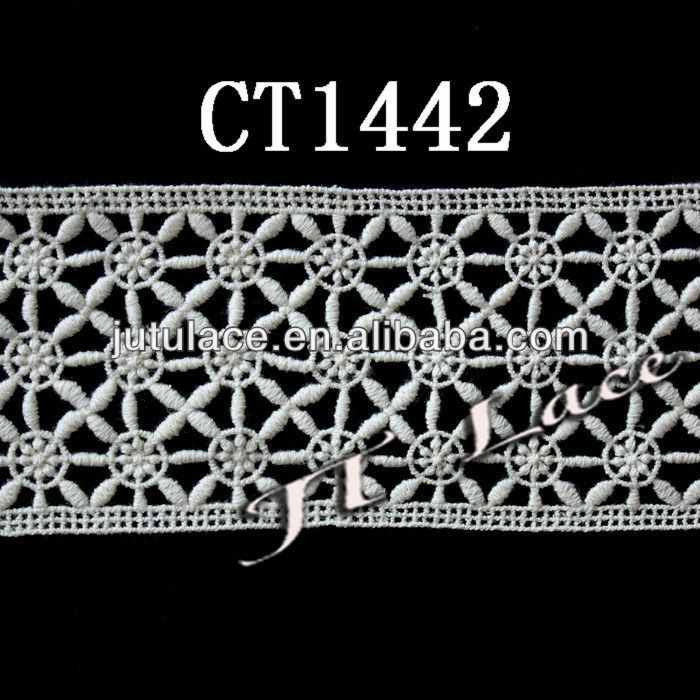 edging lace/lace edge ribbon/cotton lace trimming edging CT1442