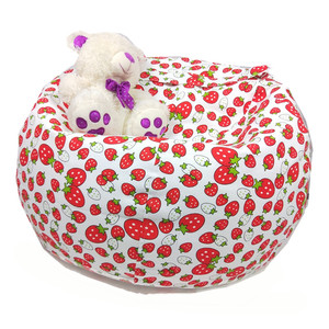 Toy Stuffed Animal Storage Bean Bag Cover Canvas Seat Bag For Children and Kids