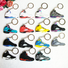 >>>New Promotion Products Mini Silicone Sneaker Jordan 5 Keychain 3D PVC Keyahcins
