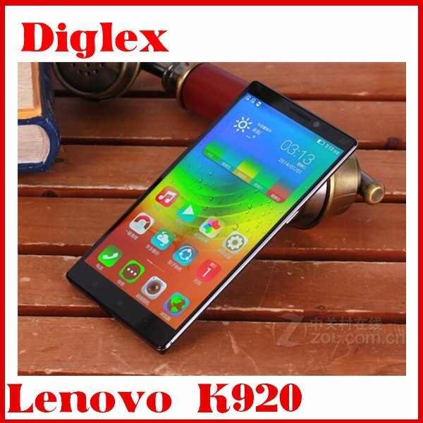 Lenovo K920 6inch 16MP Dual sim Android 4.4 Phone 3GB +32GB Qualcomm MSM8974AC Snapdragon 801 Cell Phone lte GPS