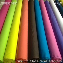 2014 hot sales flocking new 100% polyester plain fabric