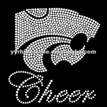 mascot cheer panther rhinestone heat transfer motif