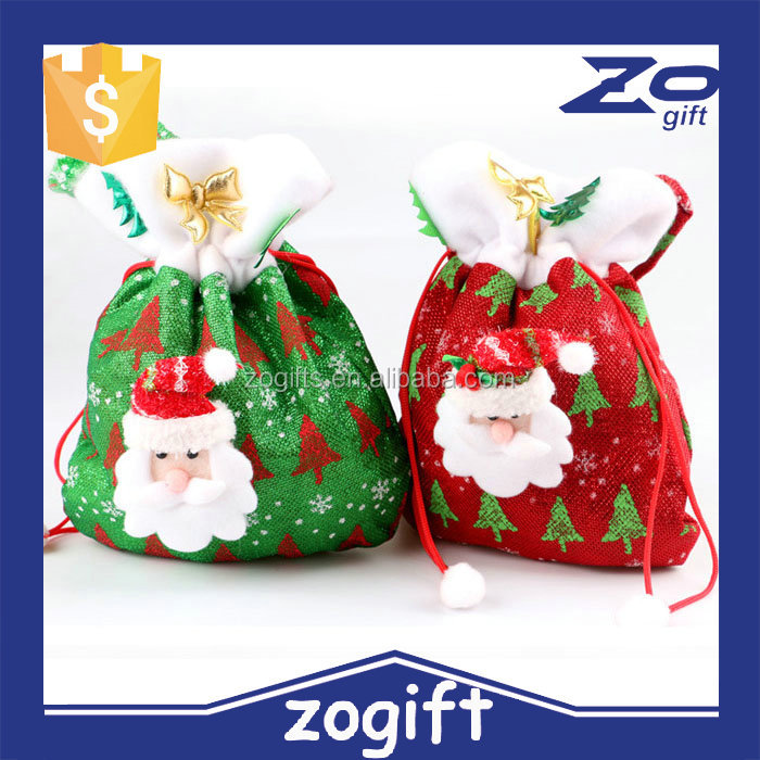 ZOGIFT 2015 Christmas Decoration Santa Gift bag candy bag for xmas